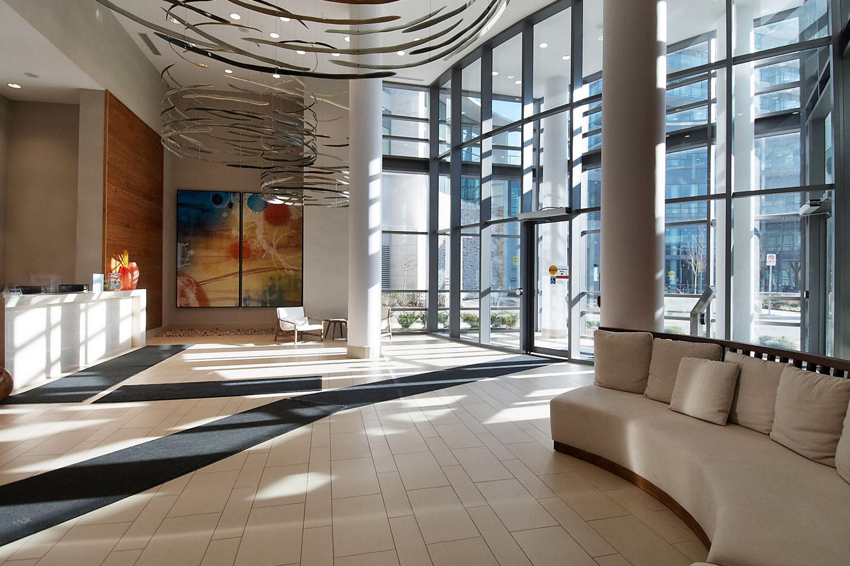 beyond the sea Beyond The Sea Condos | Monthly Featured Condo | July 2017 15 legion rd toronto beyond the sea north tower condos etobicoke condos parklawn condos front entrance foyer